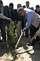 Khalilzad planting tree in Kabul.jpg