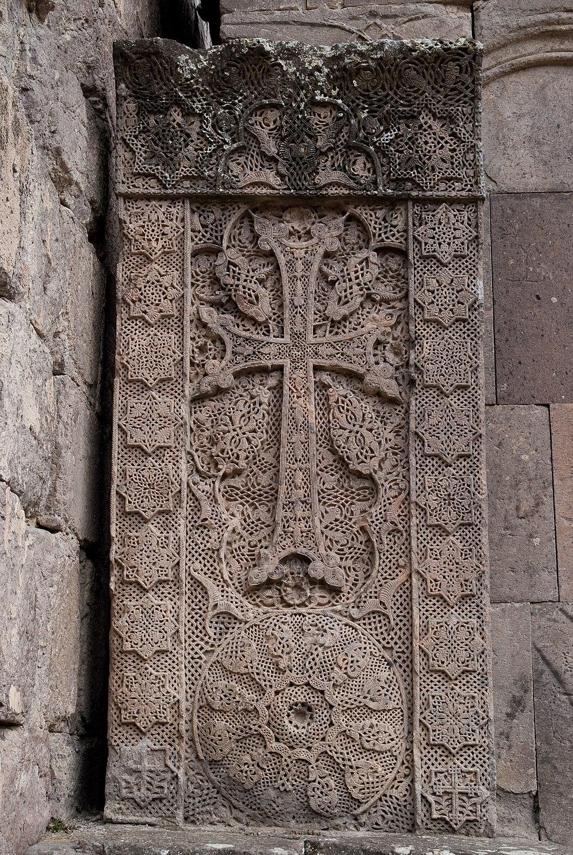Khatchkar at Goshavank Monastery in Armenia