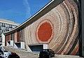 Kijow Centrum Cinema, W facade, 1965 mosaic designed by Witold Cęckiewicz, 34 Krasinskiego Av, Krakow, Poland.jpg