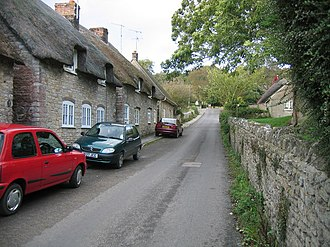Kimmeridge - Image: Kimmeridge main street geograph.org.uk 251704