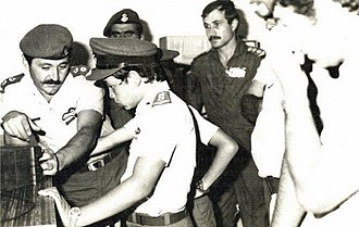 Abdullah II of Jordan - Abdullah (age eleven) during a 1973 visit to Royal Jordanian Air Force headquarters