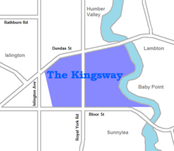 Vicinity of The Kingsway