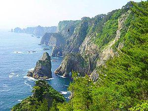 Tanohata, Iwate - Kitayamasaki coastline at Tanohata