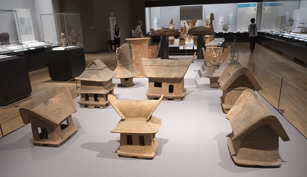 Kofun pottery in the Tokyo National Museum