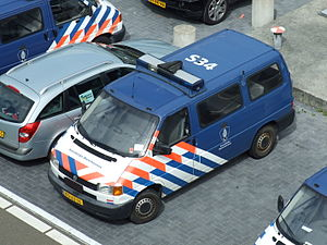 Airport security - A Dutch Marechaussee van