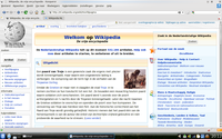 Konqueror web browser screenshot of nl wikipedia.png