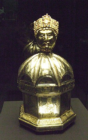 Oswald of Northumbria - St. Oswald relic receptacle, Hildesheim, 12th century