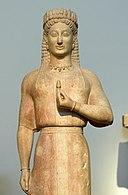 Kore, Phrasikleia, Ariston of Paros, 550-540 BC, Mirhinous, NAMA 4889, 102538x