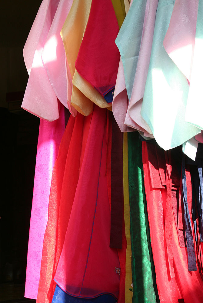 Colourful traditional Korean clothes - hanbok.
