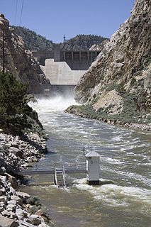 Kortes Dam Dam in Carbon County, Wyoming