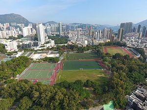 Kowloon Tsai Park - Aerial overview photo