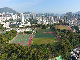 Kowloon Tsai Park - Aerial overview photo