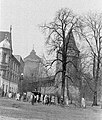 Krakkó, Lengyelország. Régi városfal, a Paszományverők bástyája és a Flórián kapu. - Fortepan 9644.jpg