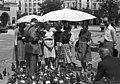 Krakkó 1958, Rynek Glówny a város főtere. Fortepan 54744.jpg