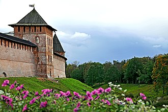 Novgorod Kremlin - Image: Kremlin of Novgorod, 2009