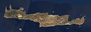 Satellite image of Crete