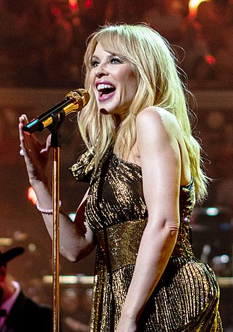 Golden (Kylie Minogue album) - Minogue performing at The Queen's Birthday Party in 2018
