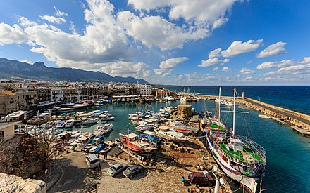 Kyrenia (Girne) is one of the main tourist resorts in Northern Cyprus. Tourism is one of the dominant sectors of the Northern Cyprus' economy.