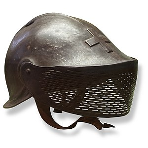 L'Eplattenier helmet - L'Eplattenier helmet, on display at Morges military museum.