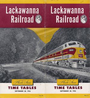 Phoebe Snow (train) - Image: LACKAWANNA 19520928