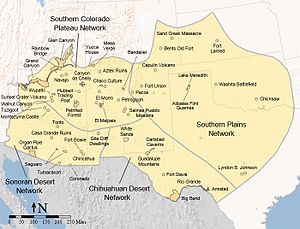 Southwestern United States Wikipedia - Southern us map with cities