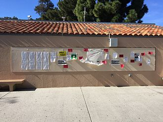 La Jolla High School - La Jolla High School Free Speech Board as of February 2, 2015.