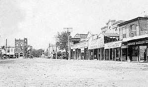 La Grange, Texas - East side of public square, circa 1908
