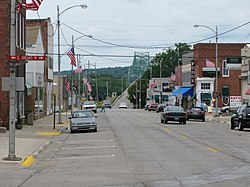 5th Street, Lacon, view towards the Illinois River