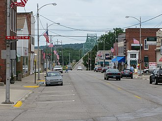 Lacon, Illinois - 5th Street, Lacon, view towards the Illinois River