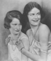 Lady Lettice Lygon and Lady Sibell Lygon, London, 1926.png