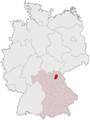 Lage des Landkreises Kulmbach in Deutschland.PNG