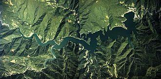 Lake Okutama - Aerial photo of Lake Okutama.