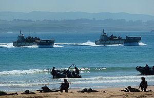 LCM-1E - Two Spanish Navy LCM-1E heading for the beach
