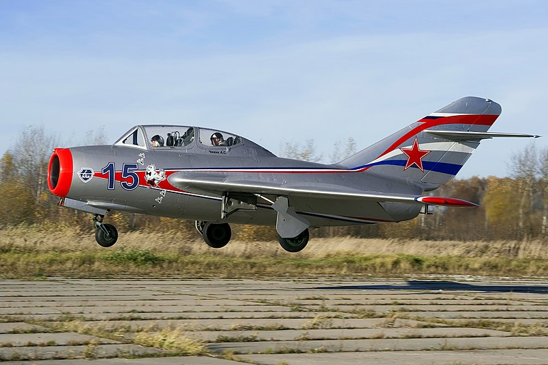 Landing. Mig-15 RA-0488G (10316391126).jpg