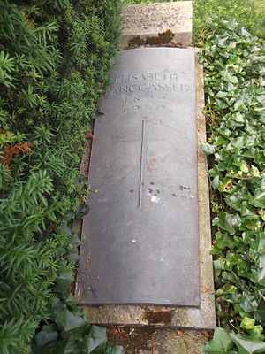 "Elisabeth Langgässer - Tomb of Langgässer in the ""Alter Friedhof"" in Darmstadt"