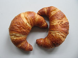 Croissant - Lye-glazed croissants, south Germany