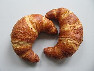 Croissant - Lye-glazed croissants, south Germany