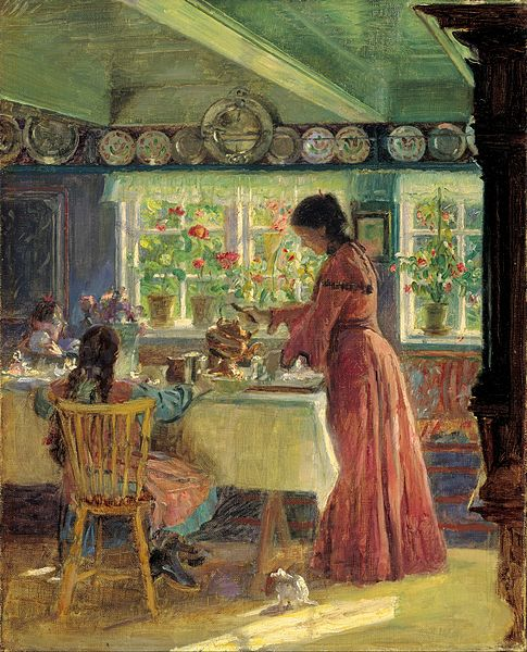 File:Laurits Tuxen - Pouring the morning coffee - Google Art Project.jpg
