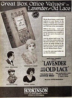 <i>Lavender and Old Lace</i> (film) 1921 film