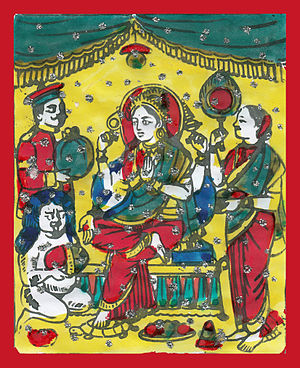 Swanti (festival) - Painting of Goddess Lakshmi