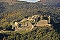 Le Château de Termes en Aude Pays Cathare, zoom depuis le GR 36 à l'Est.jpg