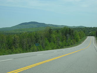 Maine State Route 9 - Looking east to Lead Mountain along State Route 9
