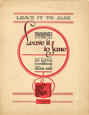 Leave It to Jane - Sheet music from the title song