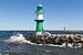 Leuchttürme an der Hafeneinfahrt von Warnemünde (Rostock).jpg
