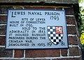 Lewes naval prison plaque (9870981065).jpg