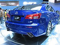 """The first Lexus """"F""""-badged model, the IS-F."""