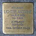 Lichter Andorné stolperstein (Budapest-06 Csengery u 84).jpg