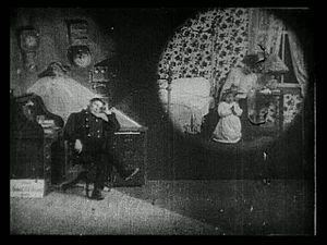 Dream sequence - A dream sequence in Life of an American Fireman (1903)