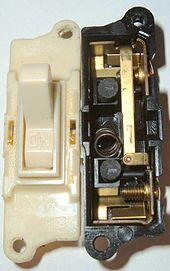 electrical contacts wikipedialight switch with a normally open contact pair
