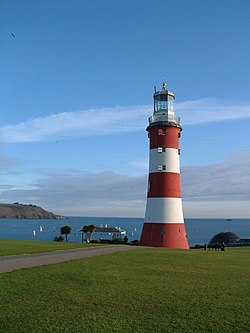 Lighthouse on Plymouth Hoe - geograph.org.uk - 222092.jpg